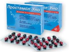 Простамол Уно от простатита: инструкция по применению