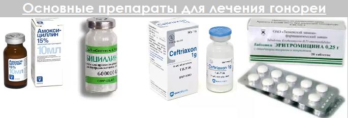 Список эффективных антибиотиков для лечения гонореи (триппера)